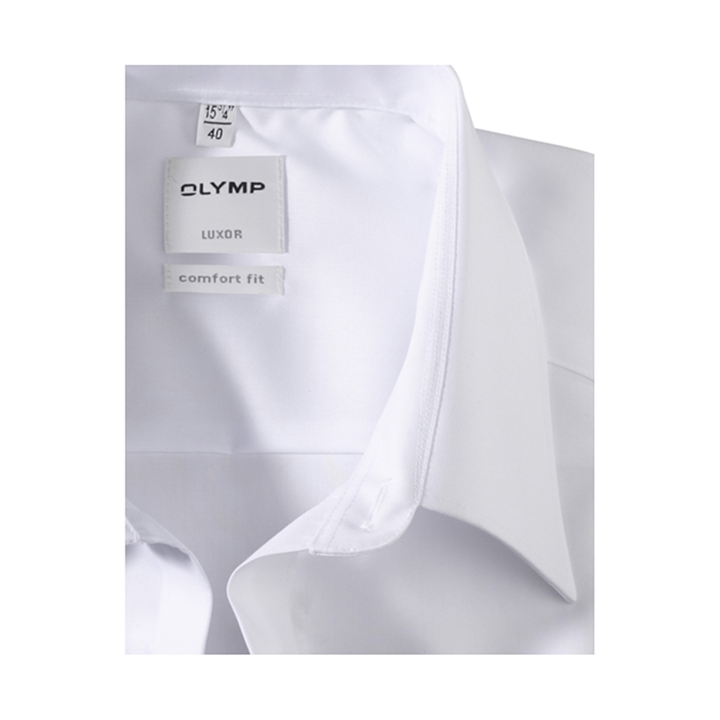 Olymp Comfort Fit Shirt - White with Kent Collar