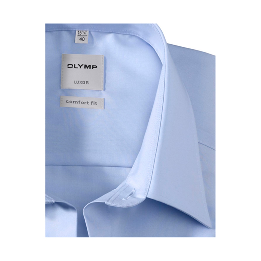 Olymp Comfort Fit Shirt - Blue with  Kent Collar