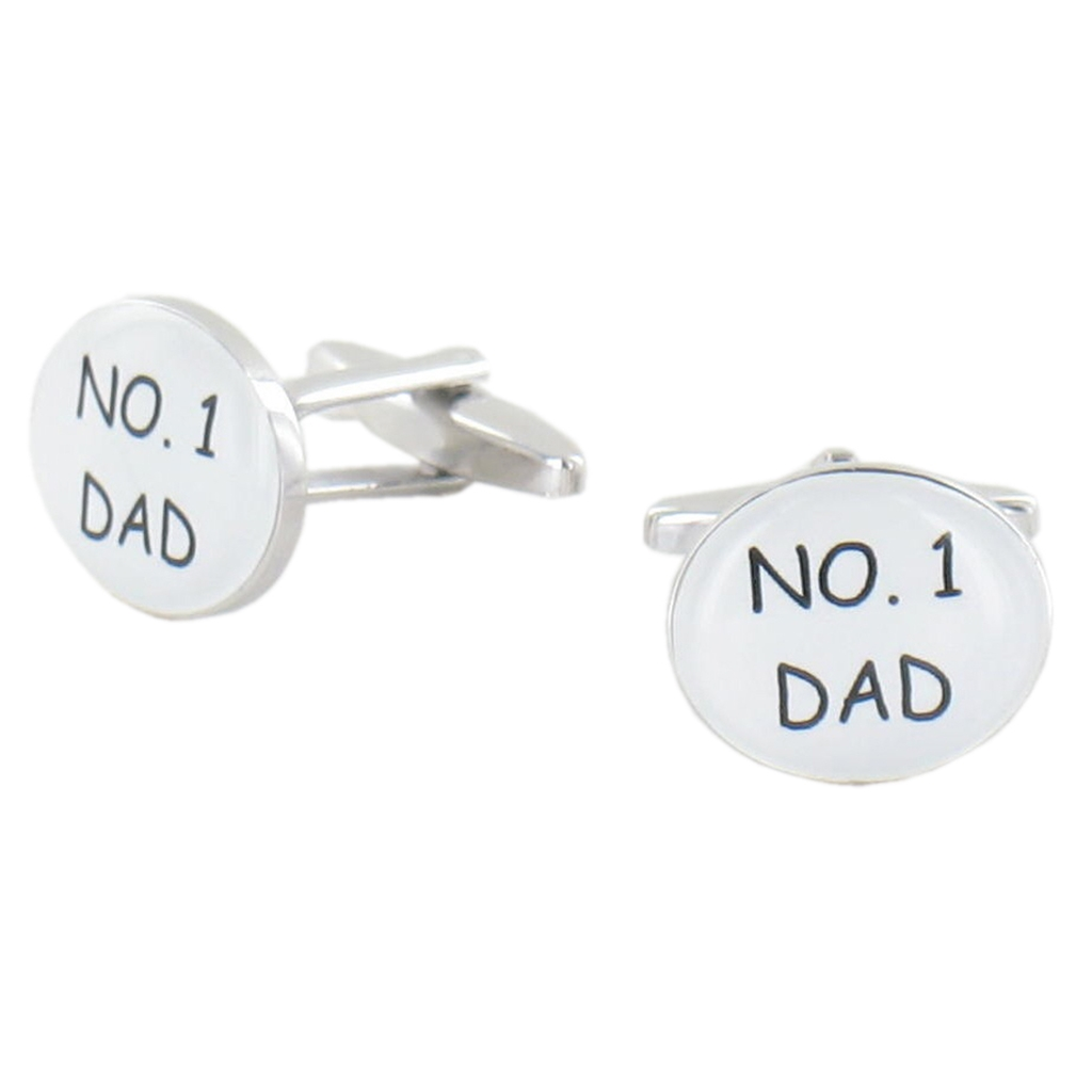 Number One Dad Cufflinks - Father Design Cuff Links in Gift Box