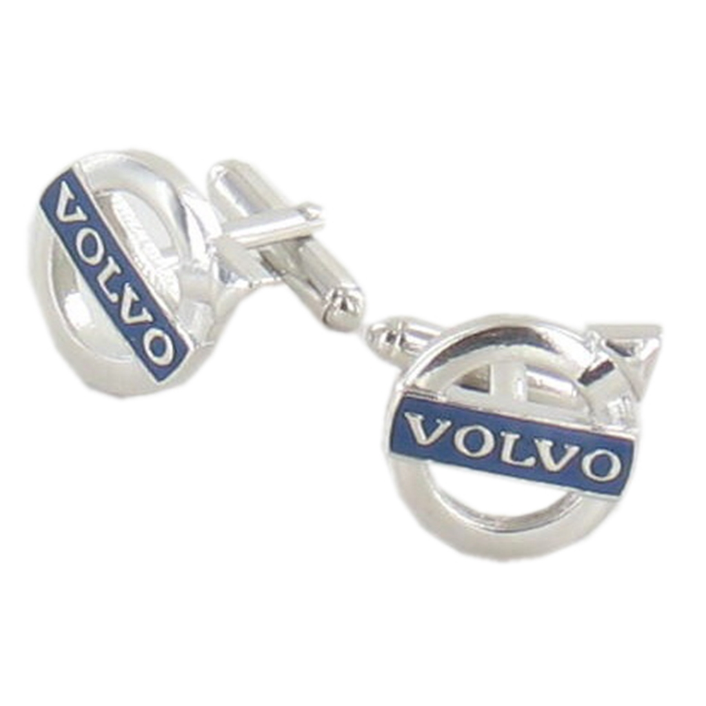 Volvo Cufflinks - Volvo Design Cuff Links in Green Luxury Antique Style Leatherette Gift Box - Car Lovers Gift