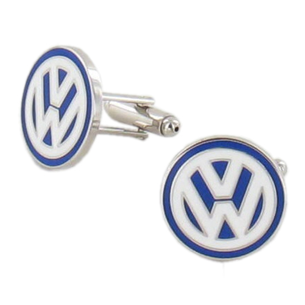 Volkswagen Cufflinks - VW Design Cuff Links in Green Luxury Antique Style Leatherette Gift Box - Car Lovers Gift