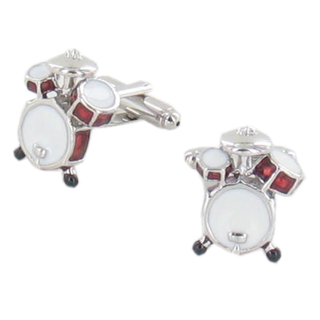 Drum Cufflinks - Drummer Cuff Links