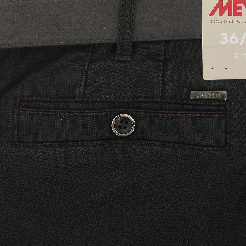 Meyer Trousers Luxury Winter Cotton - Charcoal - Style New York 5522 08