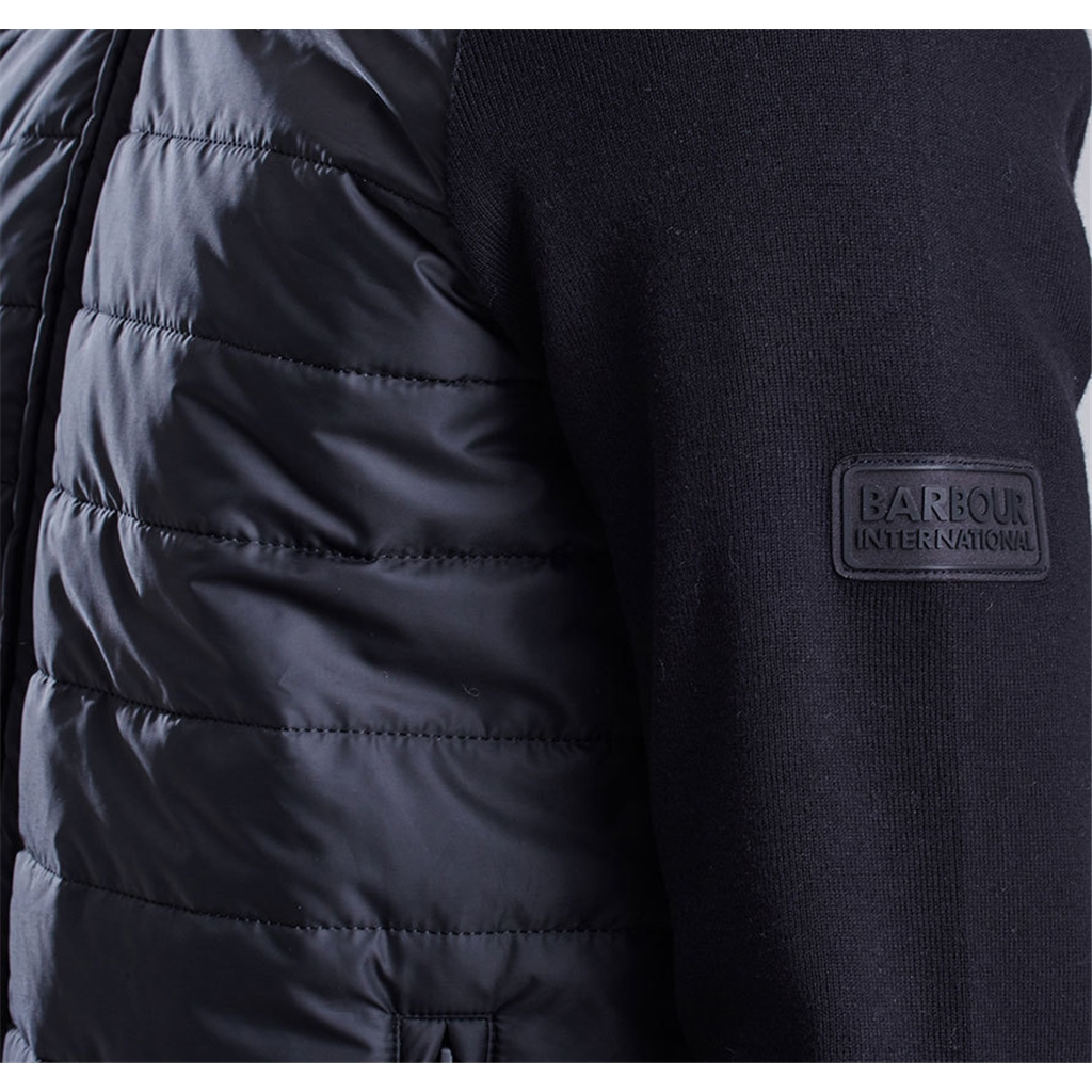 New 2020 Barbour International Baffle Zip through - Black