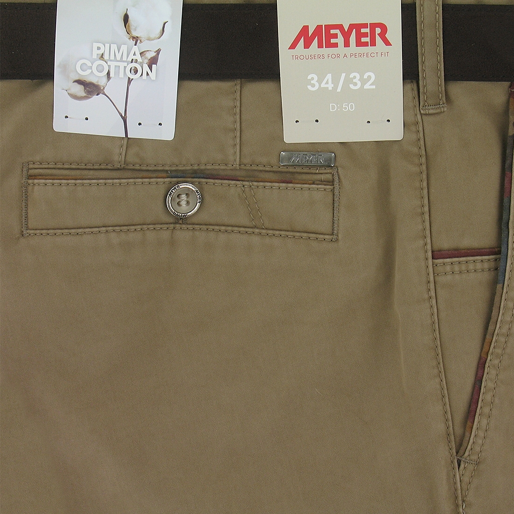 "Meyer Trousers Luxury Winter Cotton - Sand - New York 5527 43 - Size 48""R Only"