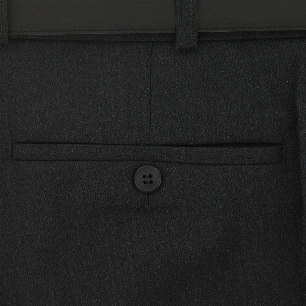 Bruhl Gabardine Wool Trousers - Charcoal Grey - Robert 3455 780