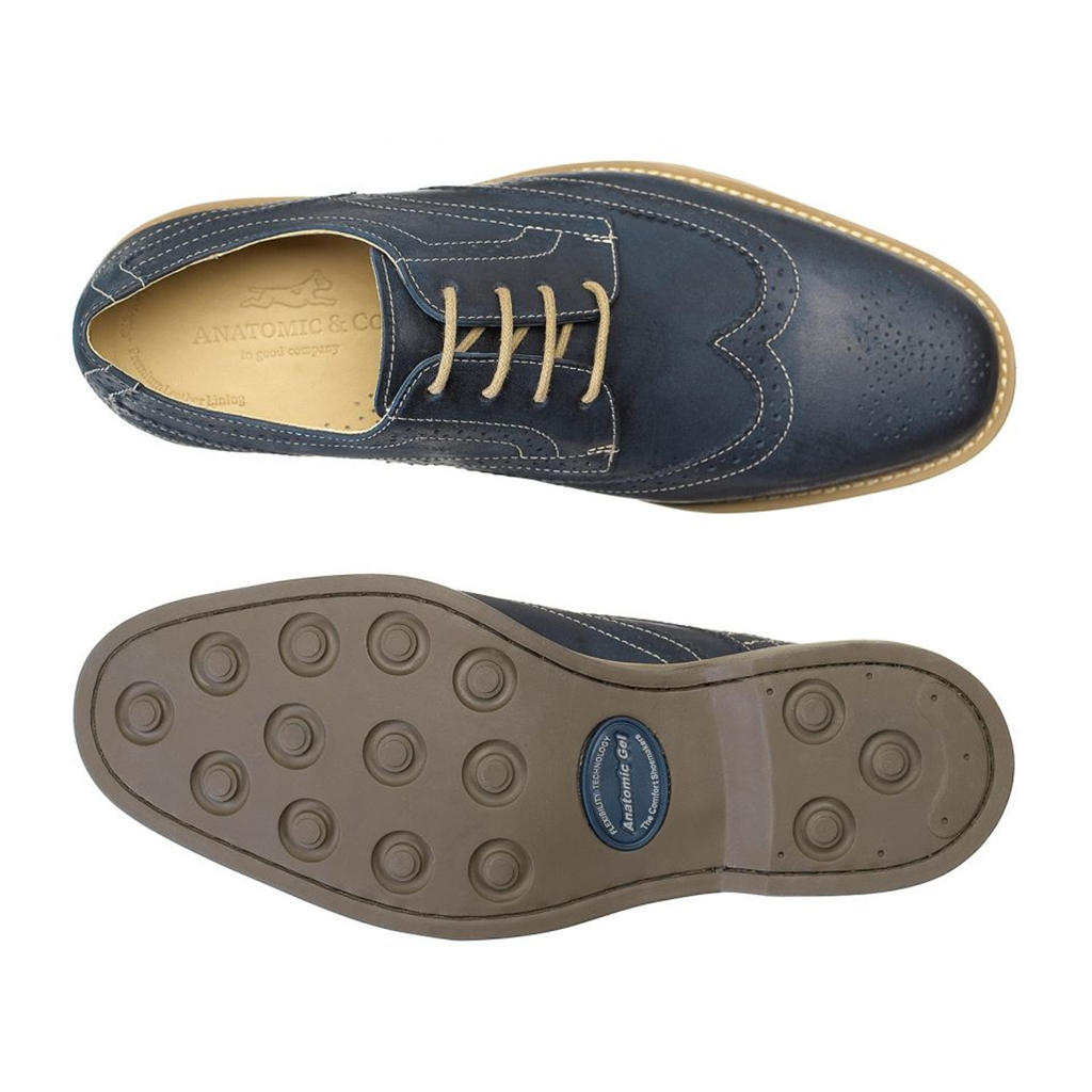 Anatomic & Co Derby Brogue Shoes - Tucano - Navy Vintage