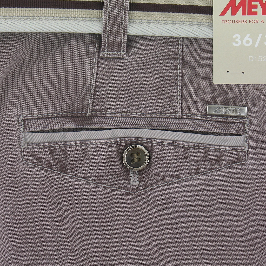 "Meyer Trousers Luxury Cotton Cotele - Rosewine - Style Chicago 5131 57 - Size 38""R Only"