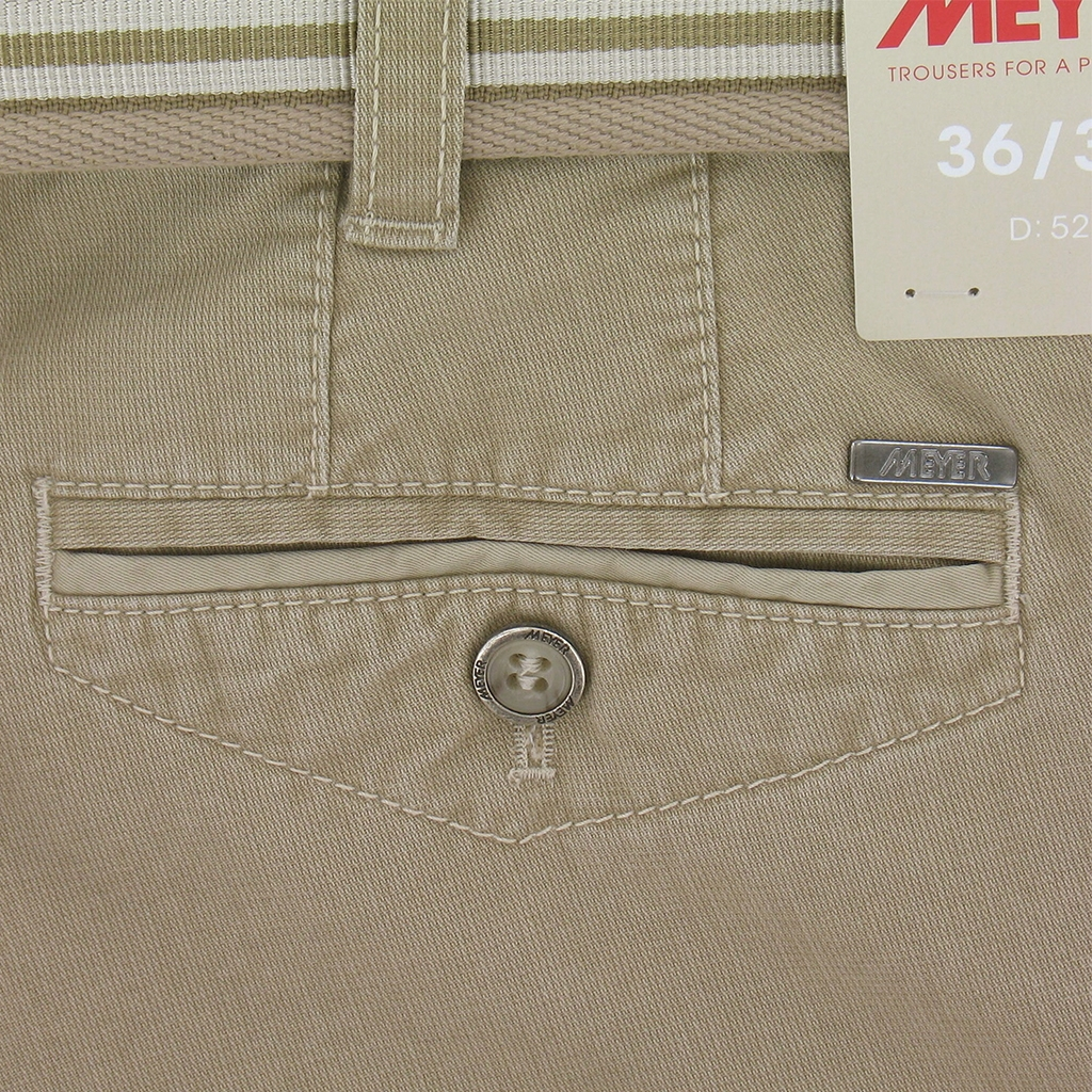 "Meyer Trousers Luxury Cotton Cotele - Camel - Style Chicago 5131 43 - Size 32""R Only"