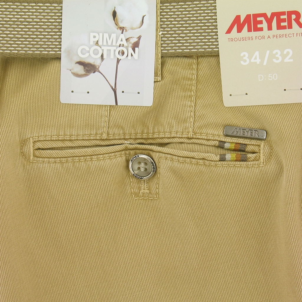 Meyer Trousers Luxury Pima Cotton - Maize - Style Rio 3108 41
