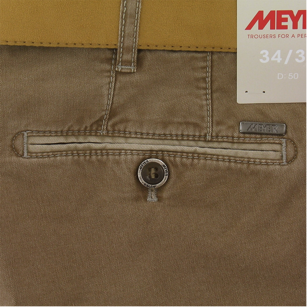 "Meyer Shorts Luxury Cotton - Nutmeg - 48"" Waist Only"