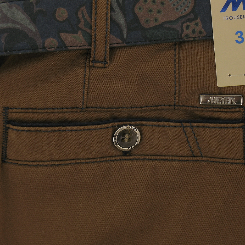 "Meyer Trousers Satin Cotton - Light Brown - Style New York 5531 43 - Size 42""S Only"