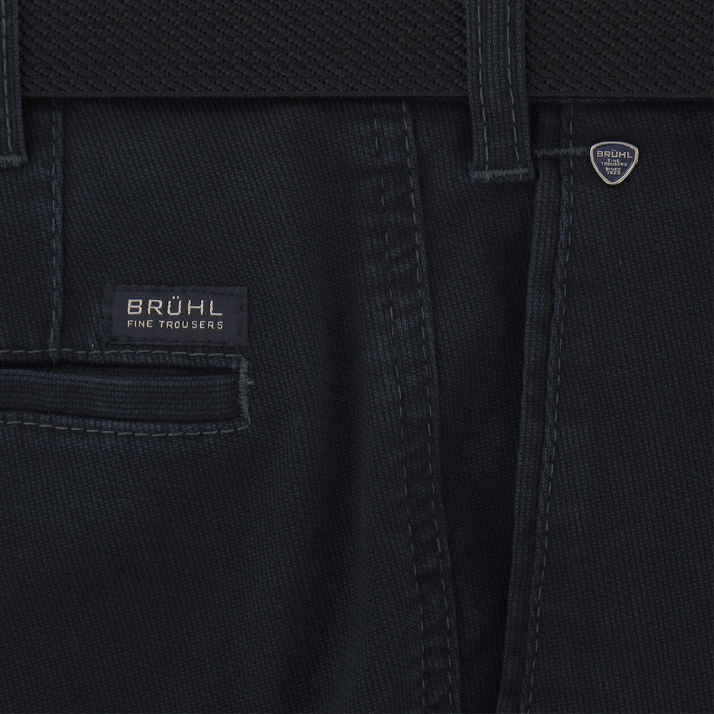 Autumn 2018 Bruhl Cotton Cotele Trouser - Blue - Montana 182790 695