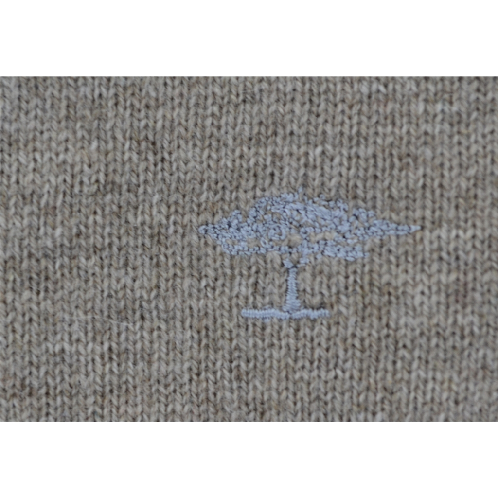 Fynch Hatton Wool & Cashmere Crew-Neck - Beige