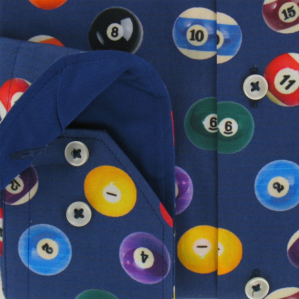 Giordano Shirt - Pool Balls Design - Modern Fit - Size XL Only