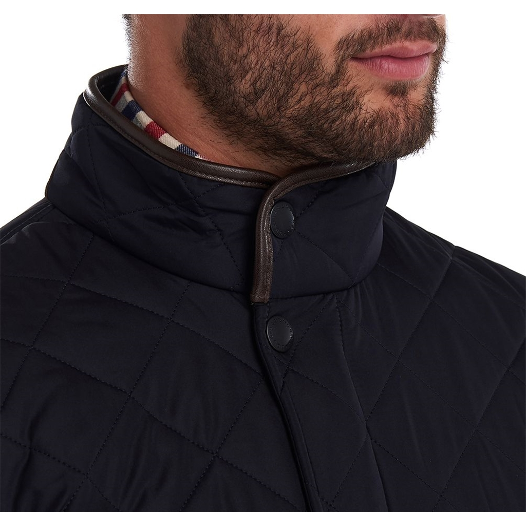 New 2021 Barbour Powell Quilted Jacket - Navy