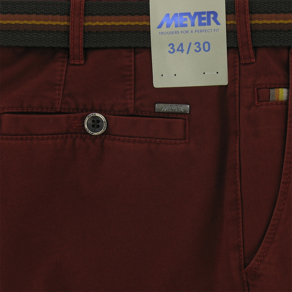 "Meyer Trousers Winter Cotton - Wine - Style Roma 5502 47 - Size 42""L Only"