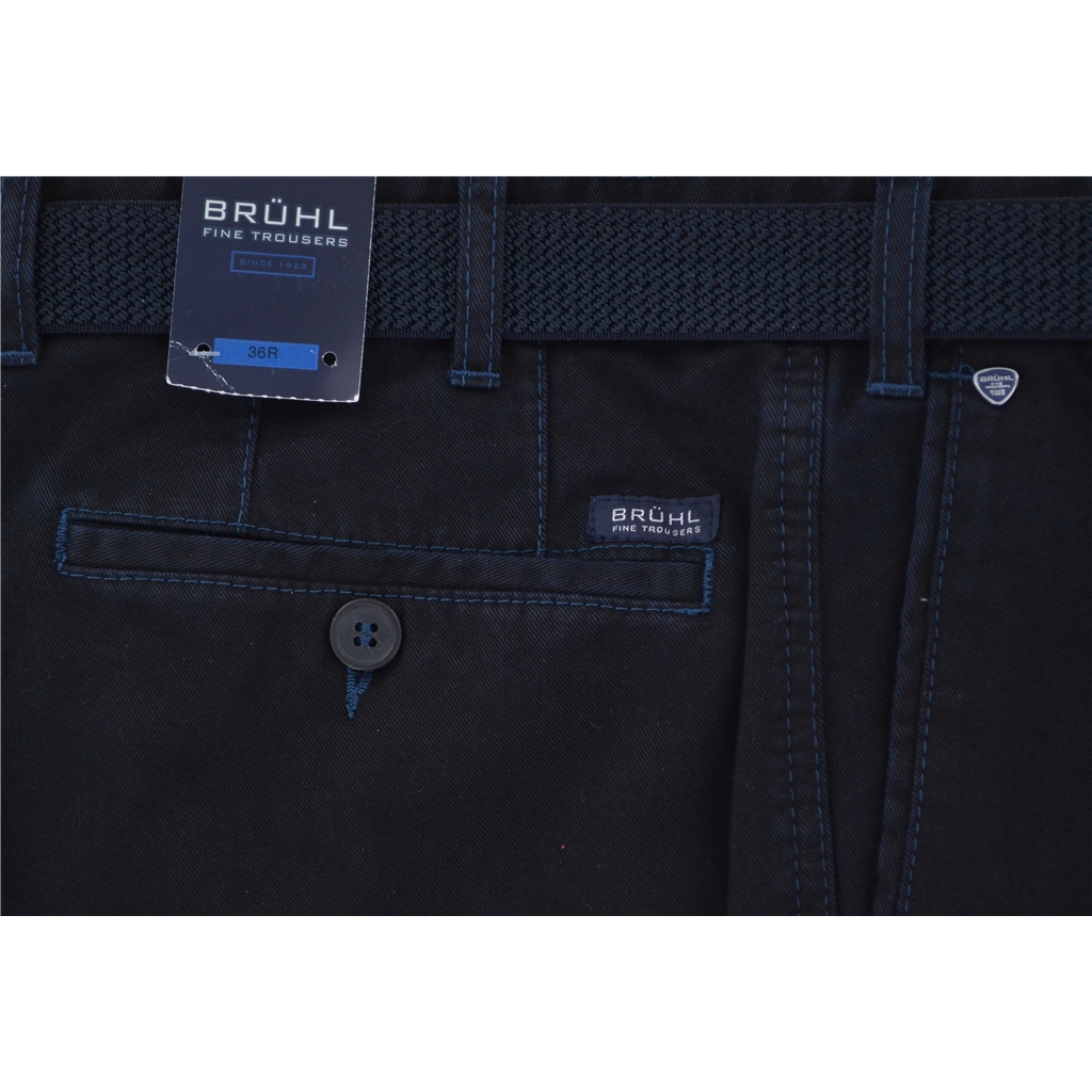 Bruhl Winter Cotton Trouser - Navy - Montana 182041 680