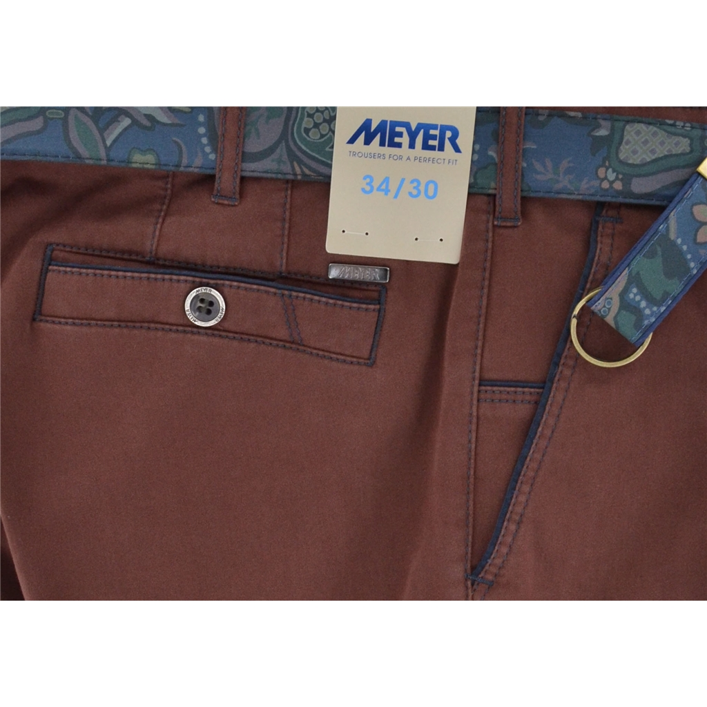 Meyer Trousers Satin Cotton - Port - Style New York 5531 55