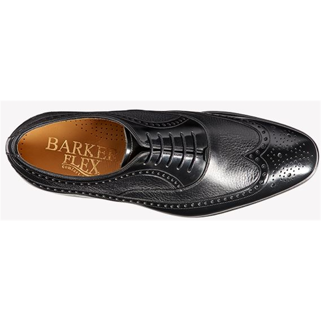 Barker Lamport - Black Deerskin / Black Hi-Shine
