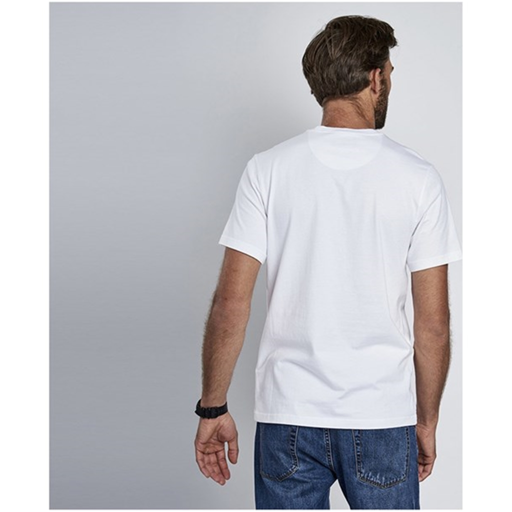 New 2018 Barbour Men's International Small Logo Tee - White