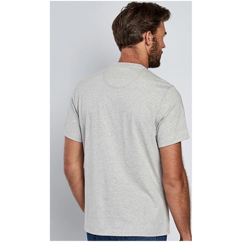 New 2018 Barbour Men's Intl Steve McQueen Naval Pocket Tee - Grey Marl