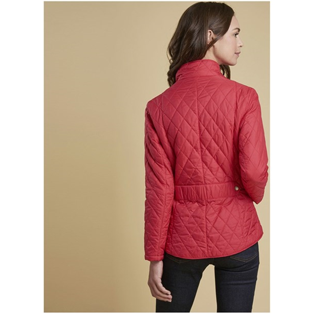 Barbour Cavalry Quilted Jacket - Raspberry Ripple - Size 10 Only