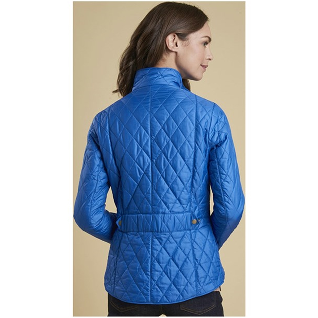 Barbour Women's Cavalry Quilted Jacket - Blue - Size 10 Only