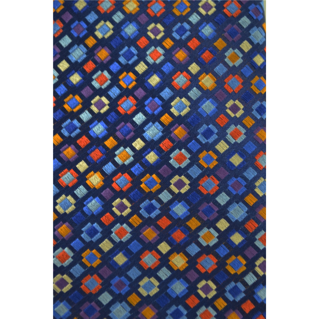 Van Buck Limited Edition - Navy Geometric Multi Design Tie