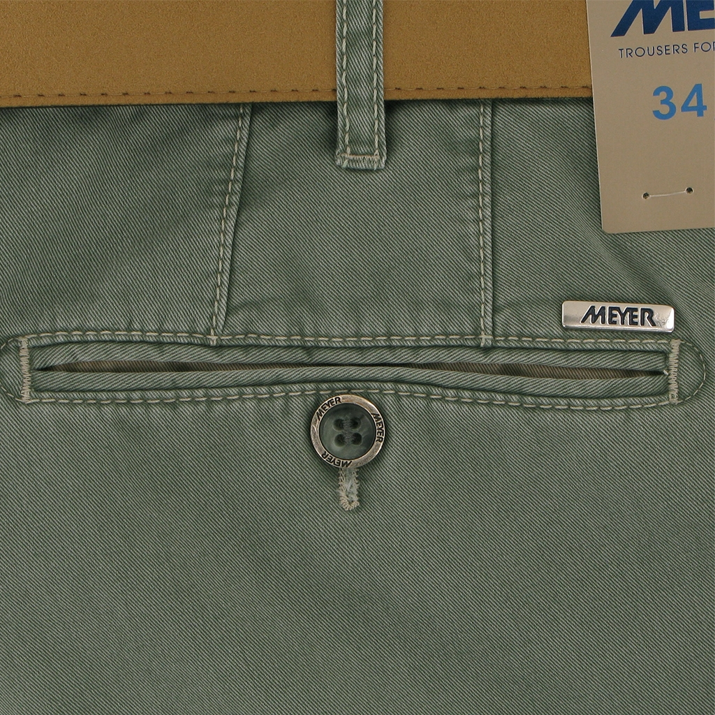 "Meyer Trouser Cotton - Green - New York 5001 27 - Size 48""R Only"