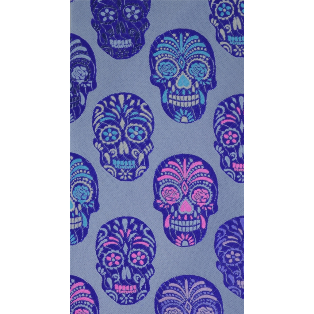 Van Buck Limited Edition - Purple Skull Design Tie