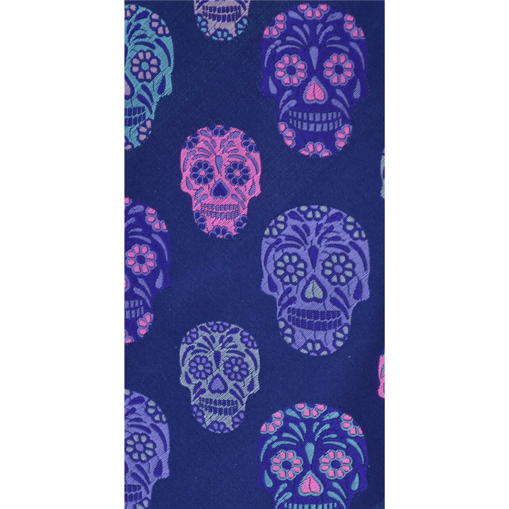 Van Buck Limited Edition - Navy Skull Design Tie