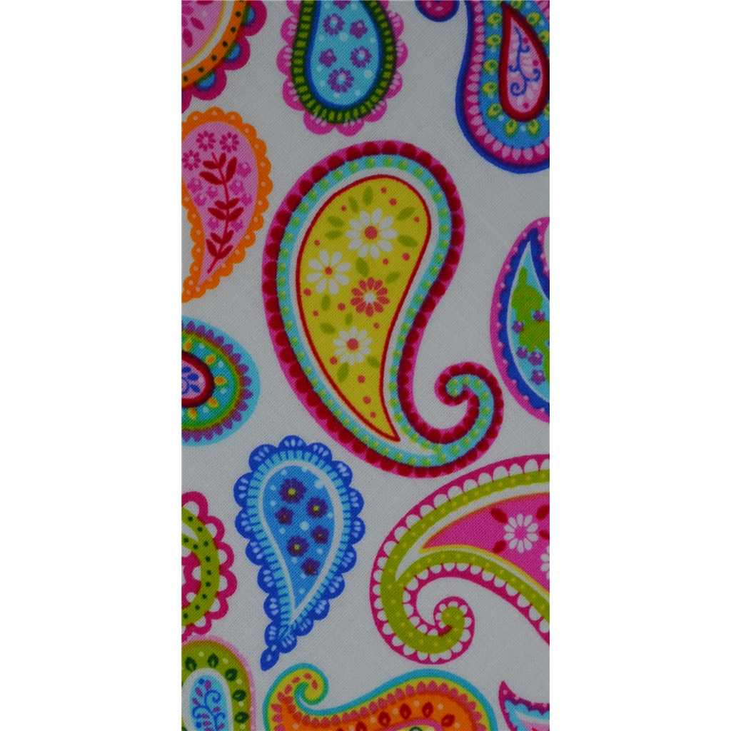 Van Buck - White Paisley Design Tie