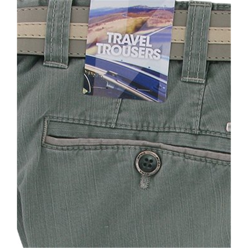 Meyer Summer Cotton Trouser - Guacamole - Oslo 5002 26