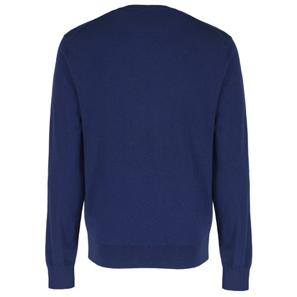 Hackett Cotton Silk Crew Jumper - Denim