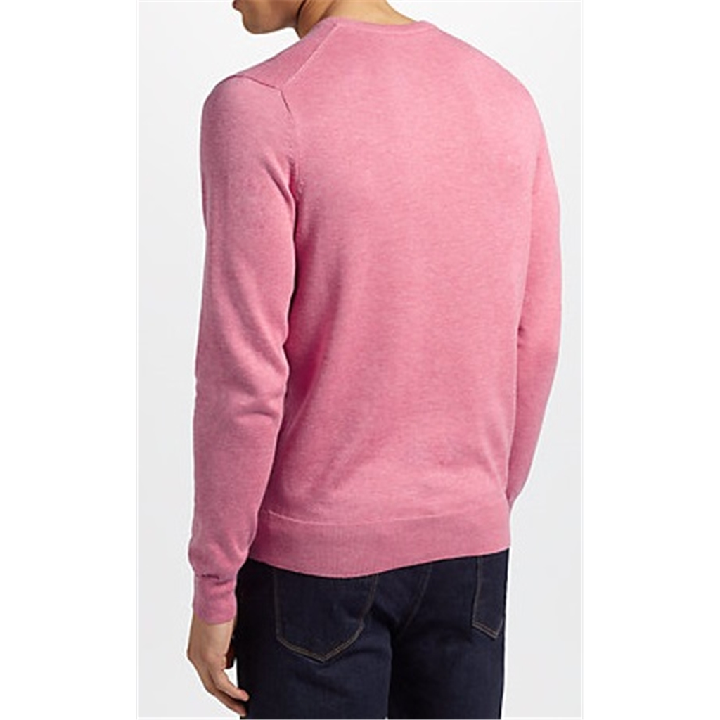 Hackett Cotton Silk Crew Jumper - Fresh Fuchsia