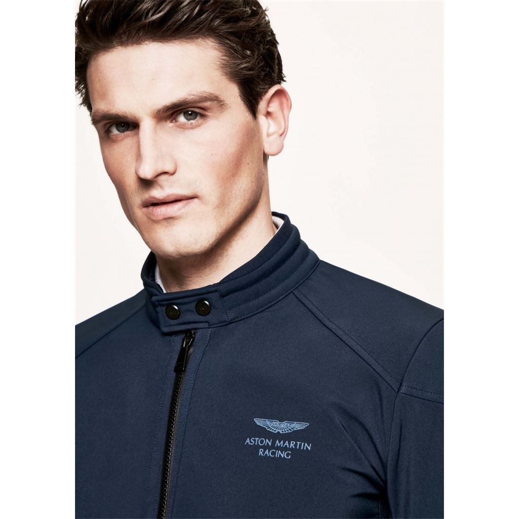Hackett Aston Martin Racing Moto Jacket - Navy