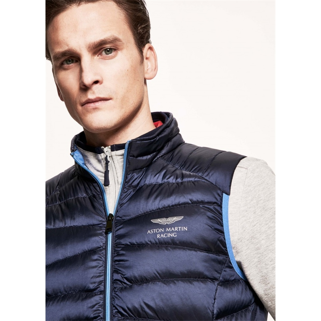 Hackett Aston Martin Racing Down Gilet - Navy