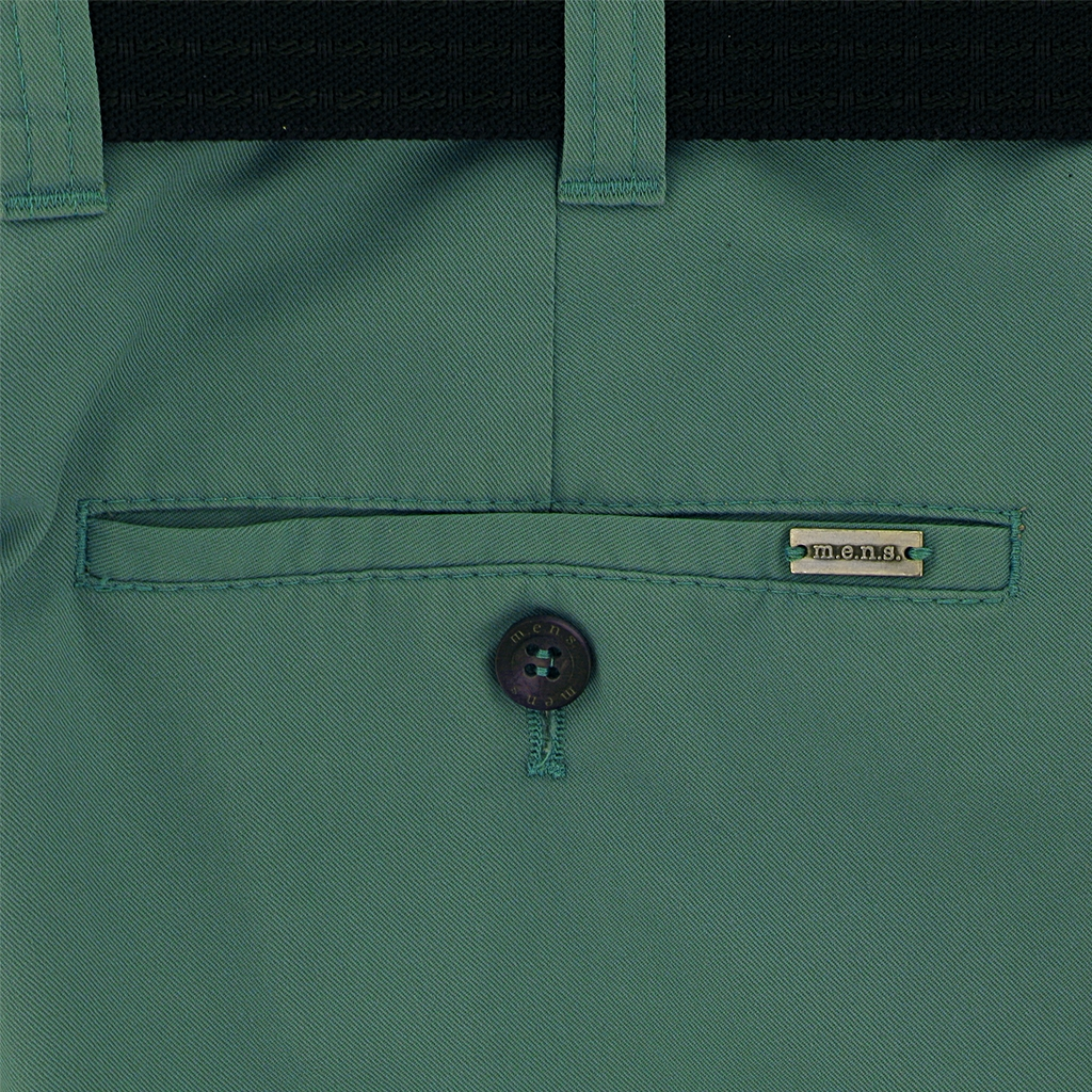 m.e.n.s. Spring Cotton Chino Trouser - Turf Green