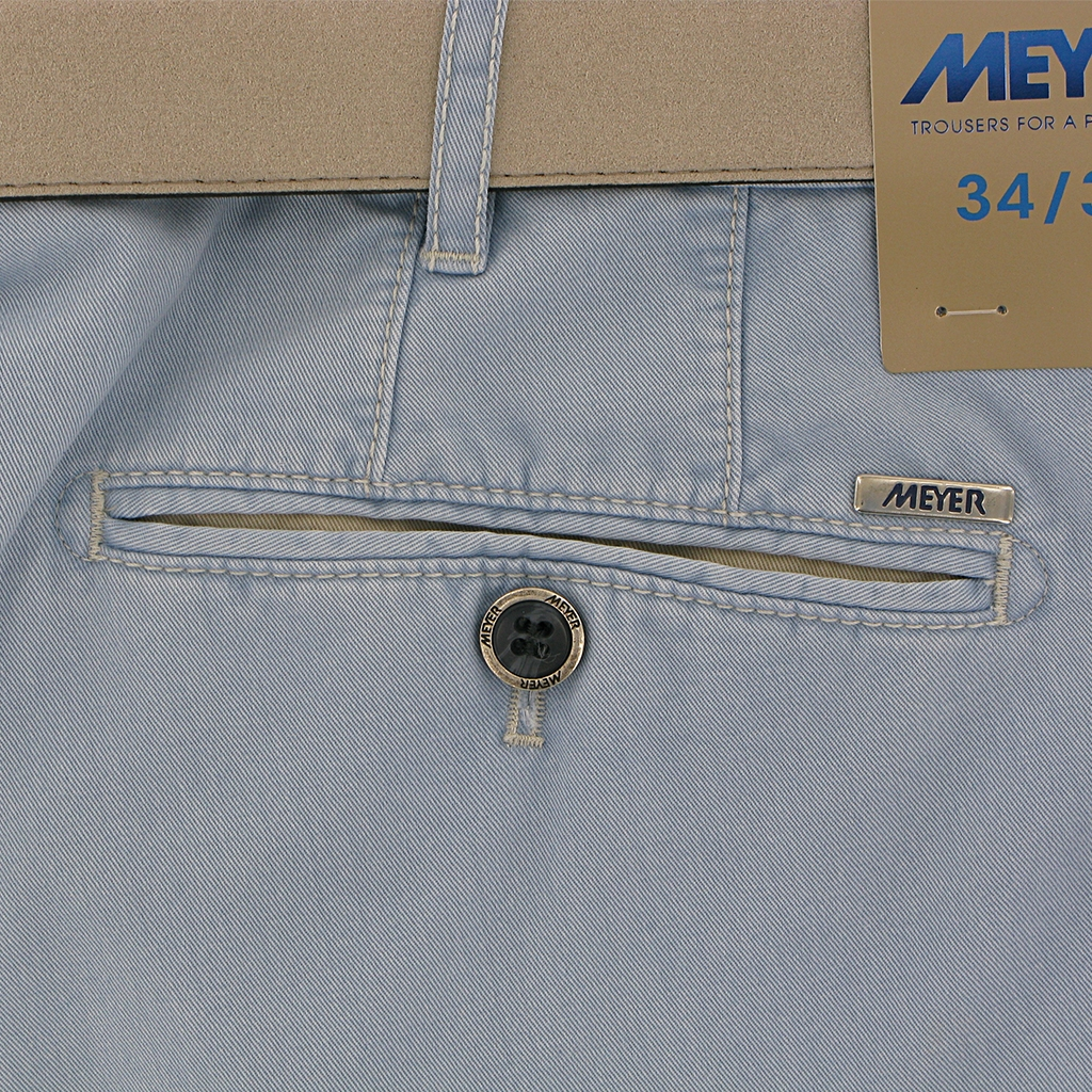 Meyer Trouser Cotton - Sky Blue - New York 5001 15