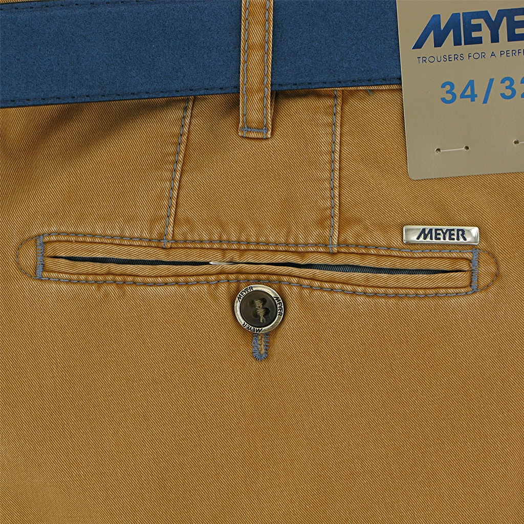 "Meyer Trouser Cotton - Peach - New York 5001 45 - Size 40""R Only"