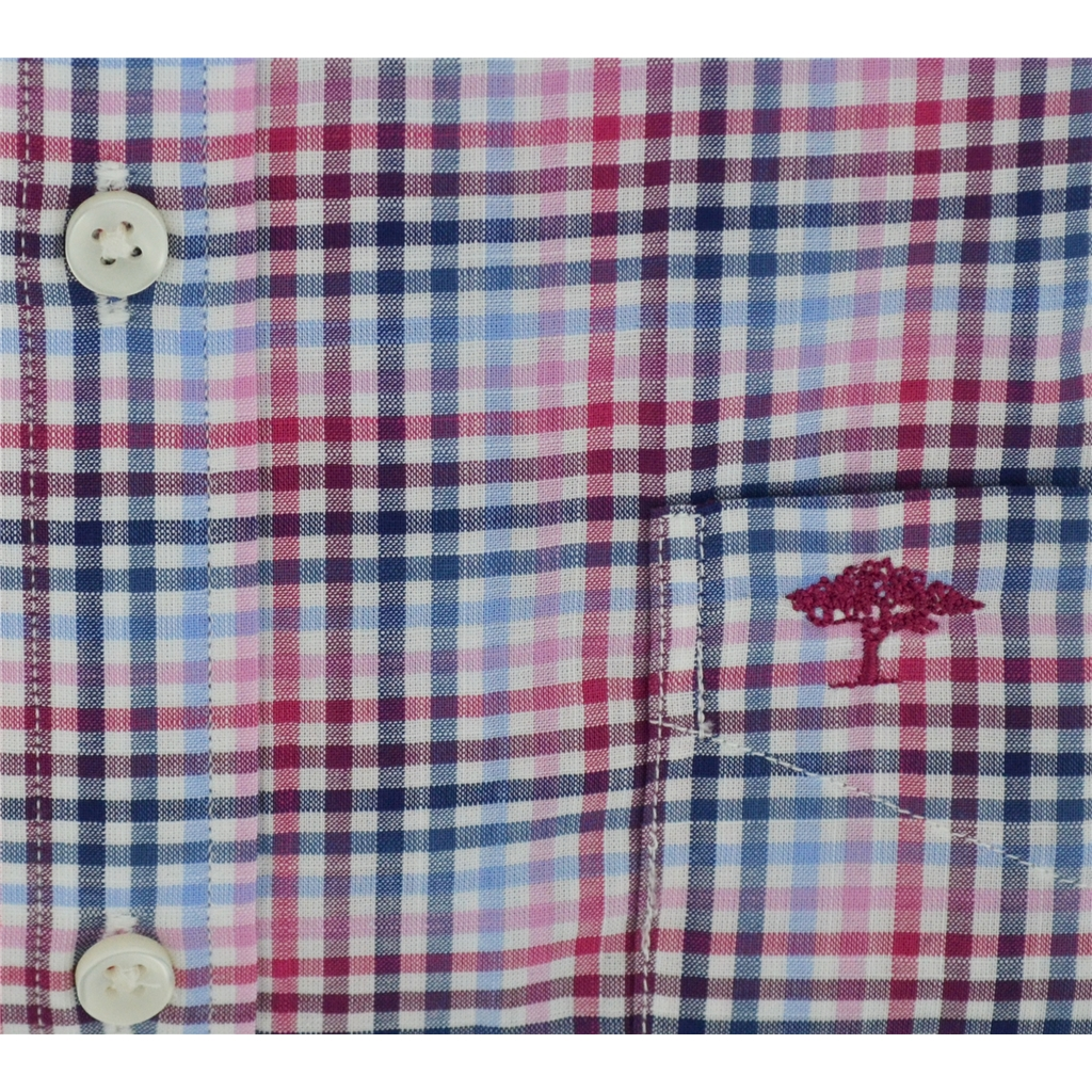 Fynch Hatton Half Sleeve Shirt - Berry & Blue