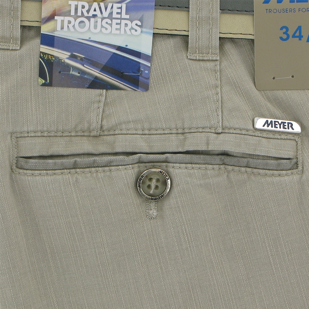 Meyer Summer Cotton Trouser - Beige - Oslo 5002 32