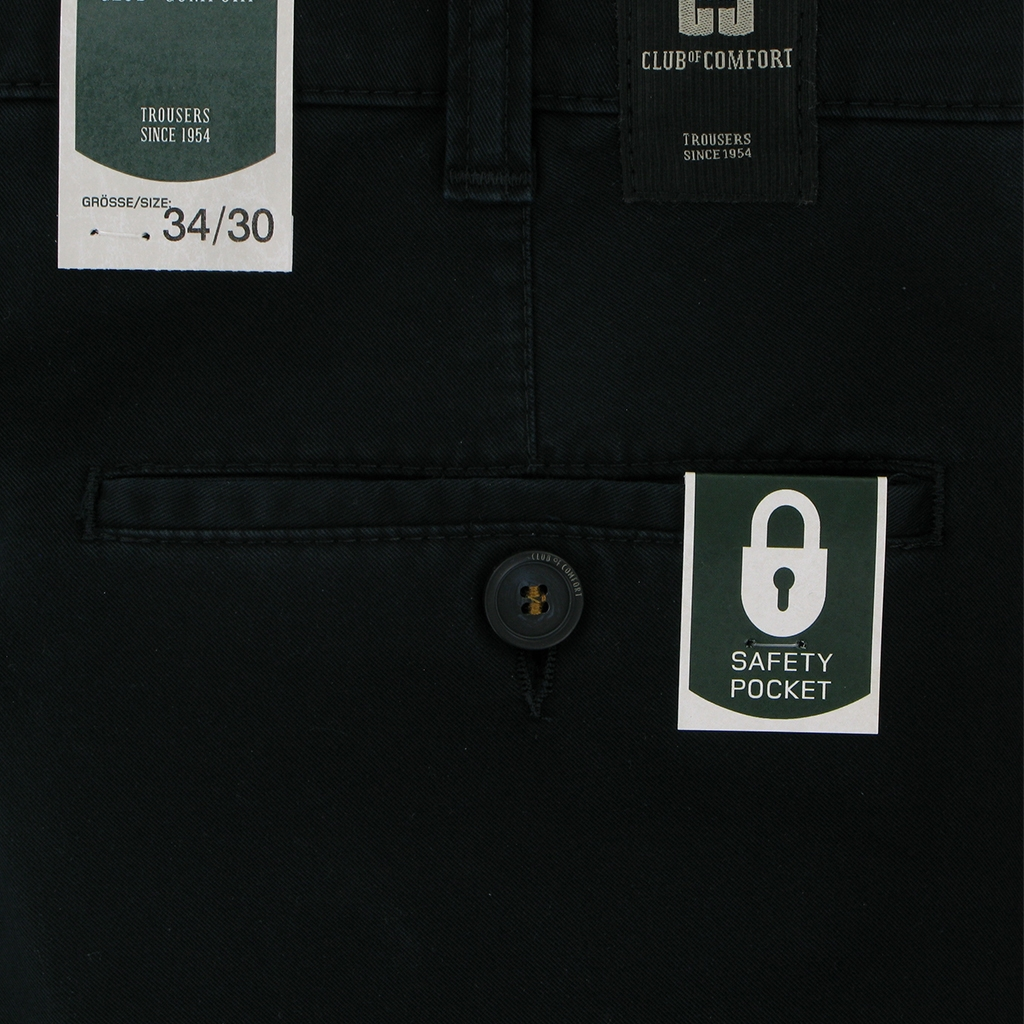 Club Of Comfort Brushed Cotton Chino - Navy - UK Sizes