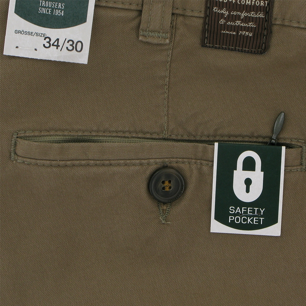Club Of Comfort Brushed Cotton Chino - Fawn - UK Sizes