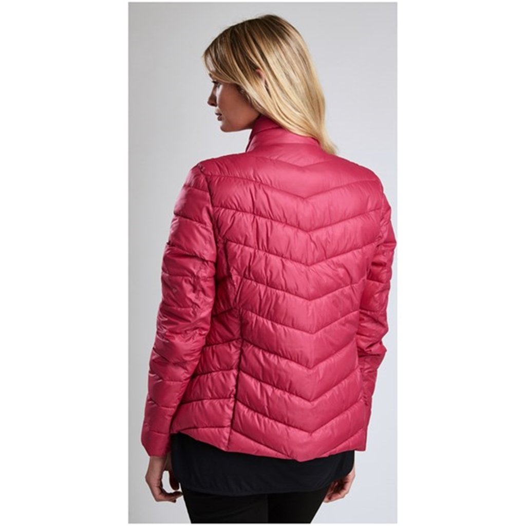 Autumn 2018 Barbour International Aubern Baffle Quilted Jacket - Fuchsia