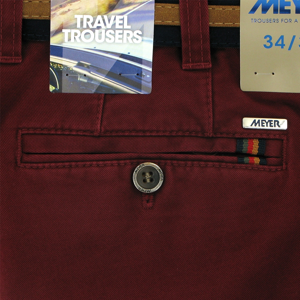 Meyer Cotton Trouser - Maroon - Oslo 5552 54