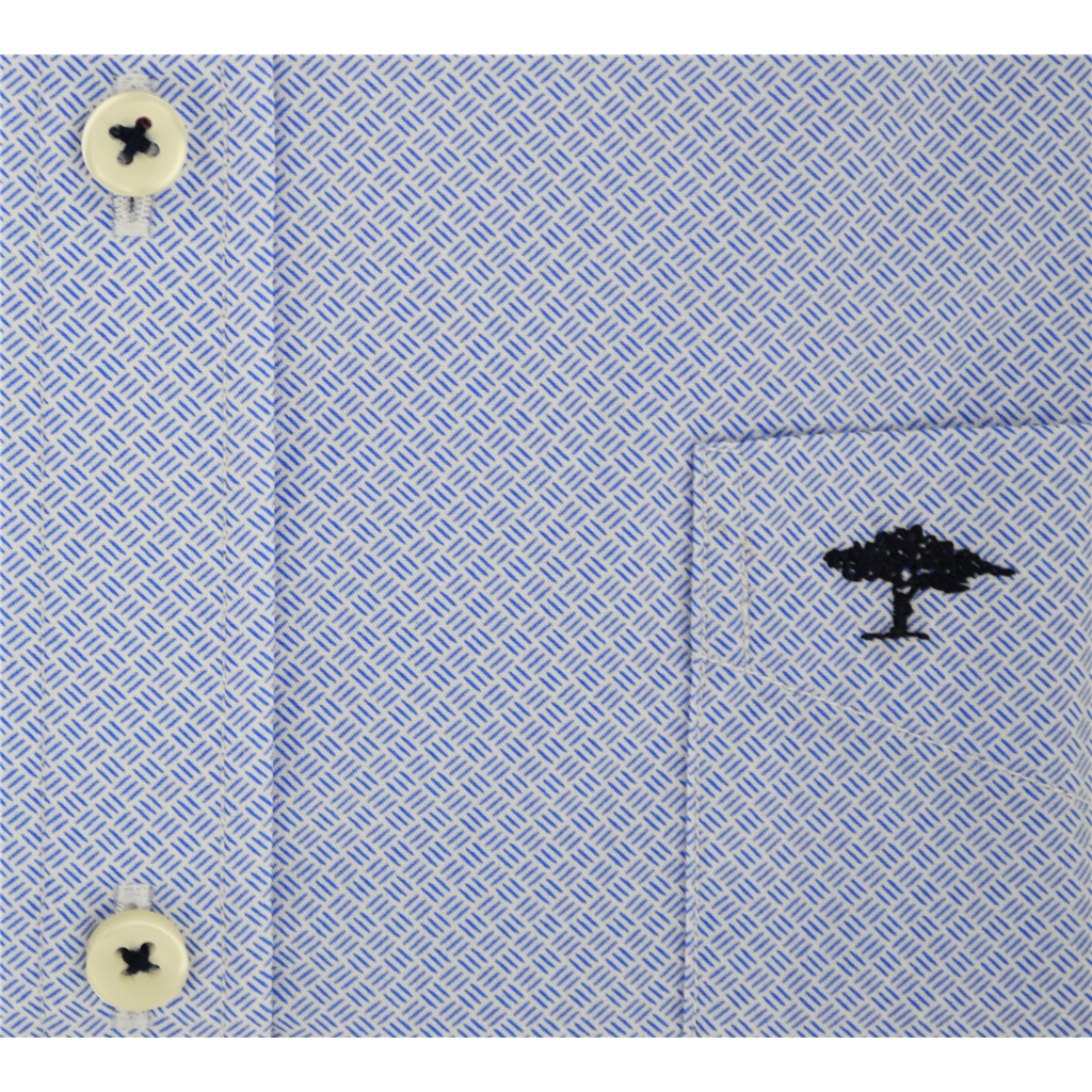 Autumn 2018 Fynch Hatton Shirt - Blue Neat