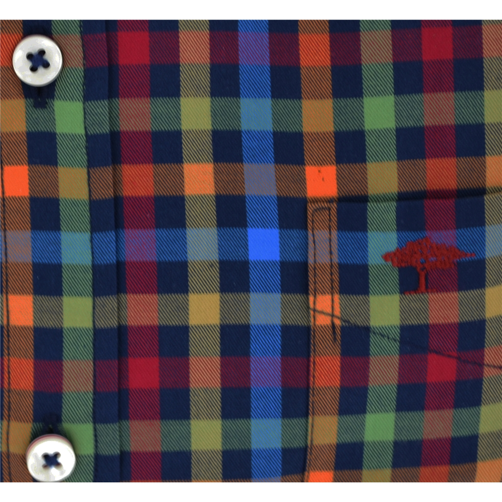Autumn 2018 Fynch Hatton Shirt - Navy Multicolour Check