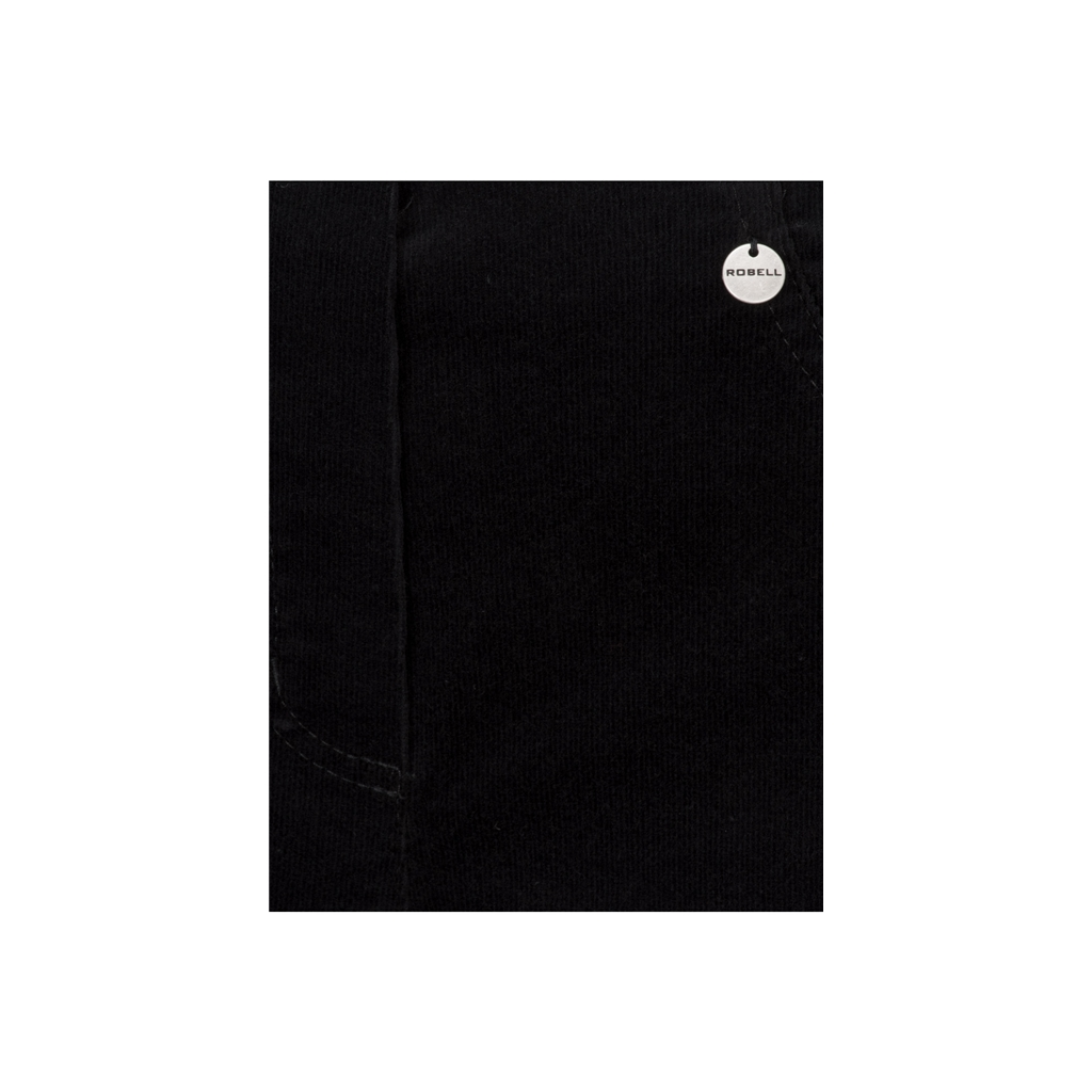 Autumn 2018 Robell Trousers - Bella Slim Fit Needlecord - Black